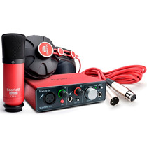 Interface Áudio Usb Focusrite Scarlett Studio + Mic + Fone