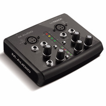 Placa De Som Usb M-track M-audio Interface De Audio Curitiba