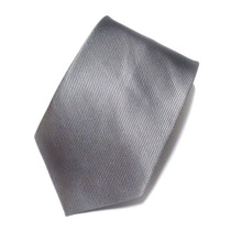 Kit C/ 9 Gravatas Masculinas Cor Cinza - Poliéster Estriado
