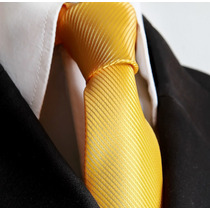 Gravata Amarela Trabalhada Para Atacados Formatura Padrinhos