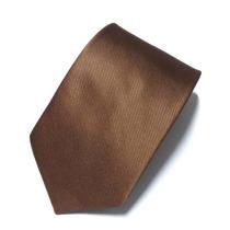 Kit C/ 5 Gravatas Masculinas Cor Marrom - Poliéster Estriado