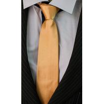 Gravata Dourada Escuro Acetinada Lisa