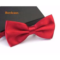 Gravata Borboleta Vermelha Com Regulador Adulto E Infantil