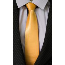 Gravata Dourada Acetinada Lisa