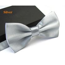 Gravata Borboleta Prata Com Regulador Adulto