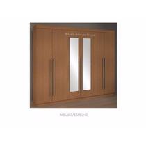 Guarda Roupa 6 Portas Espelho Mdf Portininari D Doro Móveis