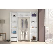 Guarda-roupa Sem Porta 2 Gavetas Closet Branco - Politorno