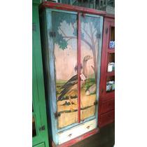 Armário Rústico Em Madeira De Demolição Pintado Siriema