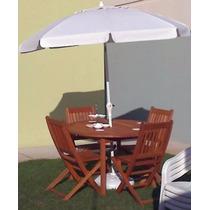 Conj. Mesa Com 4 Cadeiras + Ombrelone - Espaço Casa & Jardim