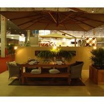 Ombrelone Lateral 3m Quadrado Giratório 360 C/ Floreira