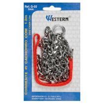 Corrente Proteção 3mm 1,2m Cães Cachorro Pet Western #g-02