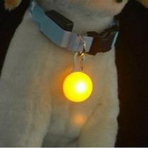Bolinha De Led Para Colar De Cachorros - 3 Efeitos De Luz