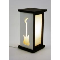 Luminária Abajur Guitarra Música Instrumento Musical Decorar