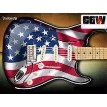 Usa Flag Bandeira Usa Adesivo Guitarra Baixo Violao