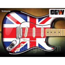 Bandeira Reino Unido Uk Skin Adesivo Guitarra Baixo Violão