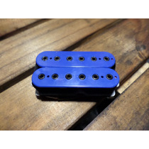 Captador Ponte Malagoli Custom Hb6 Azul Enrolado A Mão