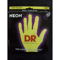 Encordoamento Baixo 4 Cordas 0.40 Neon Yellow - Dr Strings