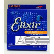 Set De Cordas Elixir Nanoweb P/ Guitarra 0.10 Menor Preço!!