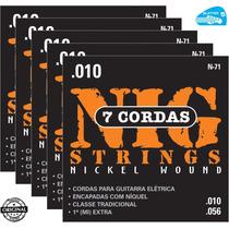 Corda 010 Nig N71 Guitarra 7 Cordas Encordoamento - 5 Jogos