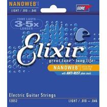 Encordoamento Elixir Guitarra 010 Nanoweb | Frete Grátis