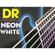 Cordas Guitarra Dr Strings Neon K3 Coloridas 010 Brancas