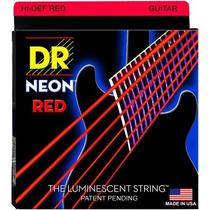 Cordas Para Guitarra Dr Neon Vermelha 0.10 Nre-10
