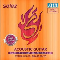 Encordoamento Aço P/ Violão Solez Slab11 .011 .052 Brass