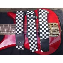 Correia Xadrez Para Guitarra Violao E Baixo ( Frete Grátis )