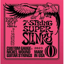 ** Encordoamento Guitarra Ernie Ball 2623 7c Super Slinky