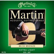 Cordas Martin E Co M170 .010 80/20 Bronze P/ Violão A Melhor