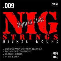 Cordas Nig Para Guitarra - Nh66 Híbrida .009 - .046