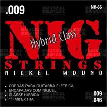 Jogo De Cordas Nig Guitarra .009 Hybrid