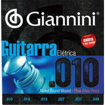 Cordas Para Guitarra Giannini 0.10 Plus Encordoamento