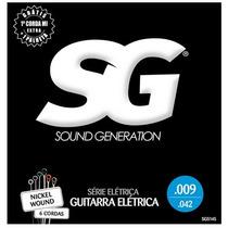 Encordoamento Cordas Guitarra 009 Nickel Wound Sg Brinde