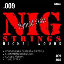 Cordas Nig - Guitarra Nh66 - Híbrida - .009/.046 S\ Juros
