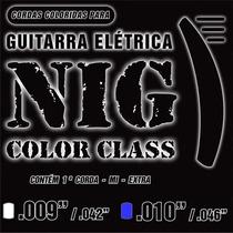 Encordoamento Nig Color Class Azul - 0.010-0.046 - Ec0262