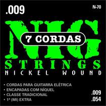 Cordas Nig Para Guitarra N70 - 7 Cordas - .009/.054
