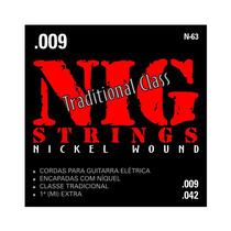 Cordas Nig Para Guitarra - Traditional Class - N-63 - .009