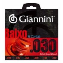 Encordoamento Giannini Baixo 6 Cordas 030