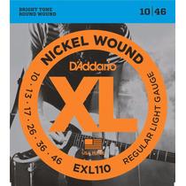 Encordoamento Guitarra 010 Daddario Exl110 Nickel + Brinde