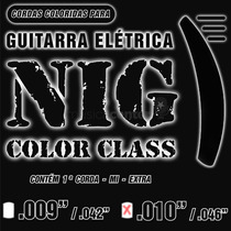 Encordoamento Guitarra Colorido 010 Nig 010 N1640 Preto