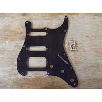 Escudo Strato Preto Padrao Fender Am Std 11 Furo S-s-h