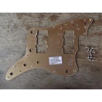 Escudo Modelo Fender Jazz-master Dourado 13 Furos