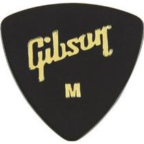 Palheta Gibson Standard Medium Preta - Kit Com 6 Palhetas