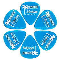 Palheta Fender California Média Medium Pacote C/ 6 Unidades
