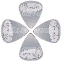 Palheta Fender 351 De Metal Aço Média Pacote Com 4 Unidades
