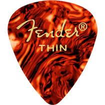 Palheta Celulóide Shell 351 Fina Tortoise 6 Unidades Fender