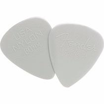 Palheta Nylon Pick 0.60 Fina Branca Fender
