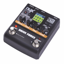 Pedal De Efeitos Guitarra Nux Drive Force Lcd Color