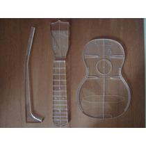 Gabarito Acrílico Planta Ukulele Soprano Martin Luthier